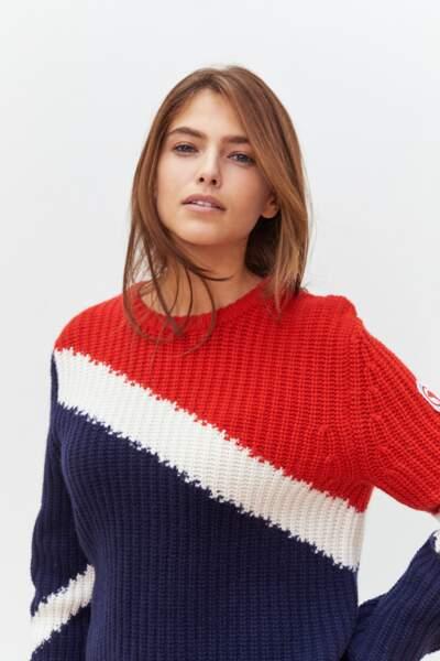 Kujten collabore avec Compagnie de Californie pour des pulls colorblock, un vent de fraicheur sur l'hiver !
