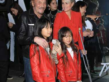 Le clan Hallyday de sortie à Los Angeles en rouge
