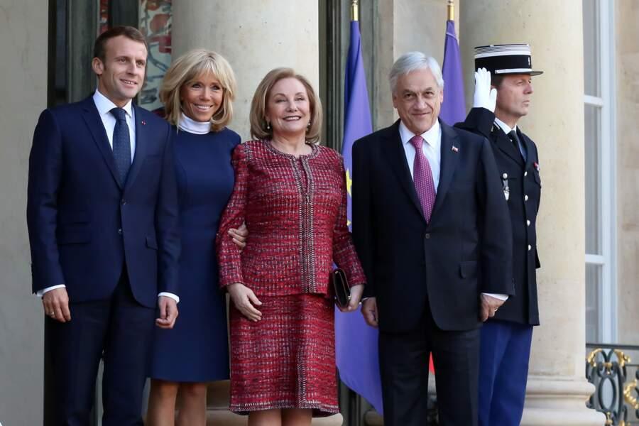 Brigitte Macron recycle une de ses robes favorites signée Louis Vuitton