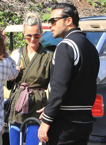 Laeticia Hallyday et Maxim Nucci à LA en 2018