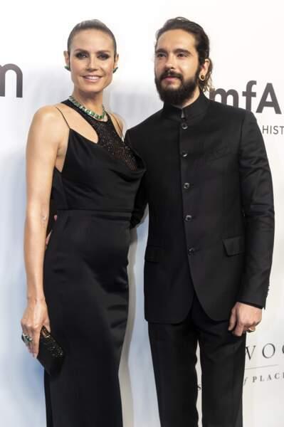 Heidi Klum était accompagnée de son fiancé Tom Kaulitz, membre du groupe Tokio Hotel.