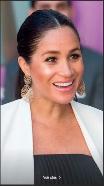 En février, Meghan Markle portait les boucles d'oreilles Onde Gourmette de Gas Bijoux