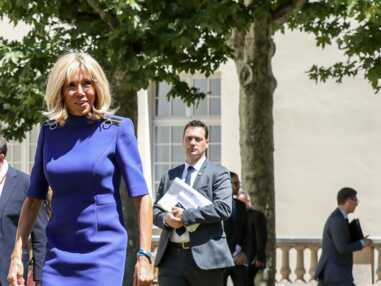 PHOTOS - Brigitte Macron en robe zippée : son nouveau look séduit