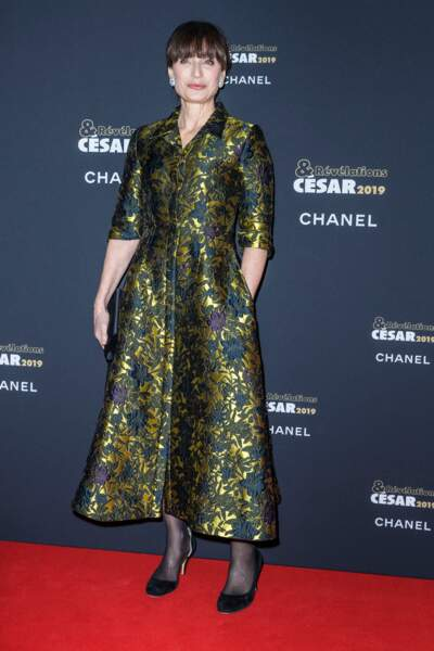 Kristin Scott Thomas était sculpturale dans sa tenue fleurie à la soirée des révélations des Césars.