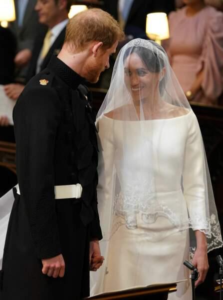 Cérémonie de mariage du prince Harry et de Meghan Markle, Chapelle Saint-George au château de Windsor, mai 2018.