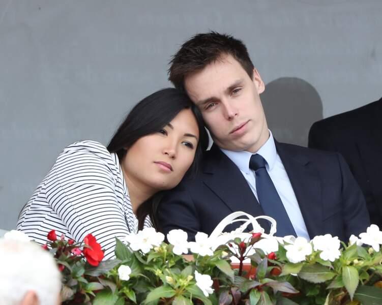 Louis Ducruet et sa fiancée Marie Chevallier - Finale du Monte Carlo Rolex Masters 2017