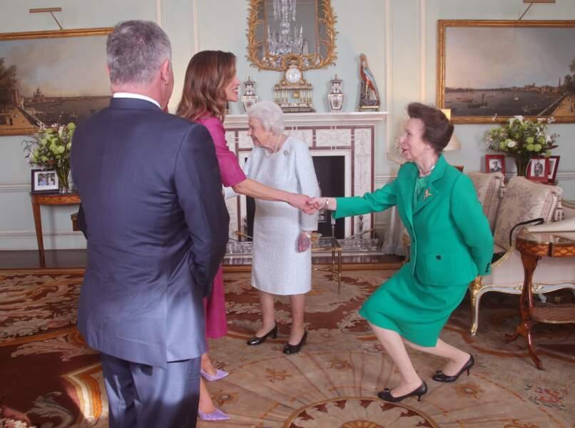La reine Elizabeth II et sa fille la princesse Anne