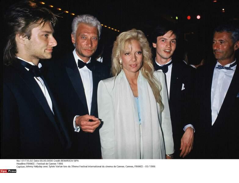 Festival de Cannes 1986. David, Johnny et Sylvie