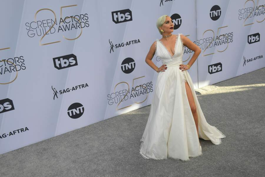 Lady Gaga, magistrale en Dior lors des SAG Awards 2019.