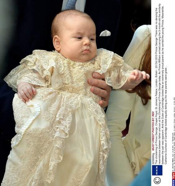 Prince George, lors de son baptême (octobre 2013)