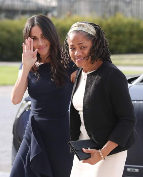 En l'absence de Thomas Markle, il fut question qu'elle escorte leur fille à l'intérieur de la chapelle St George.