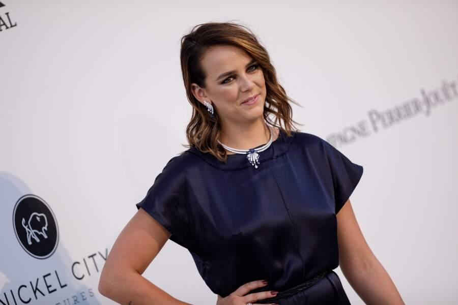 Pauline Ducruet lors du photocall du gala de l'AmfAR, en marge du Festival de Cannes 2019