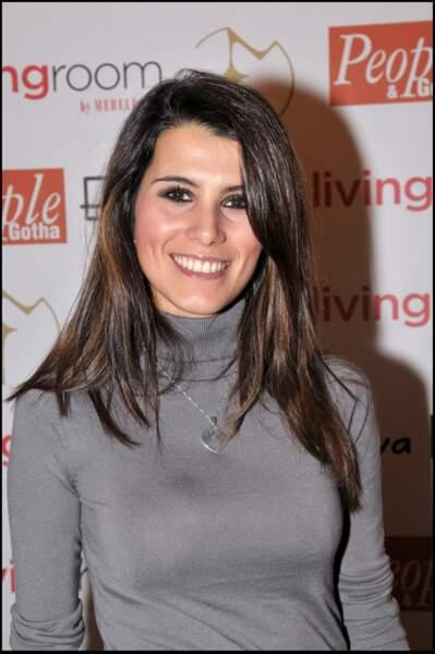 Karine Ferri au défilé haute couture Eva Minge à Paris, en 2008