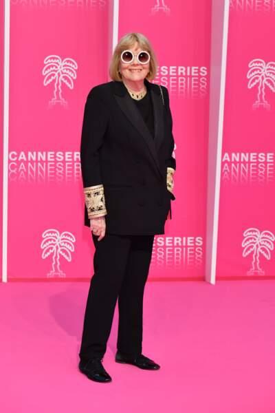 Diana Rigg, so chic, a reçu les honneurs du festival