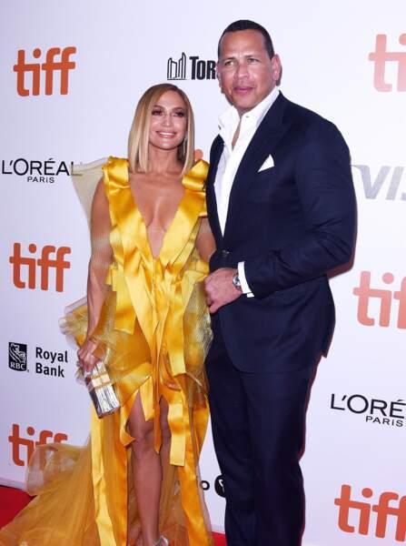 Jennifer Lopez et Alex Rodriguez, ici à Toronto le 7 septembre, sont fiancés depuis mars dernier