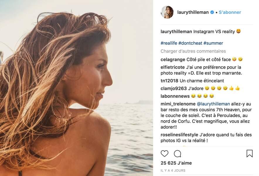 Laury Thilleman, si belle en Grèce