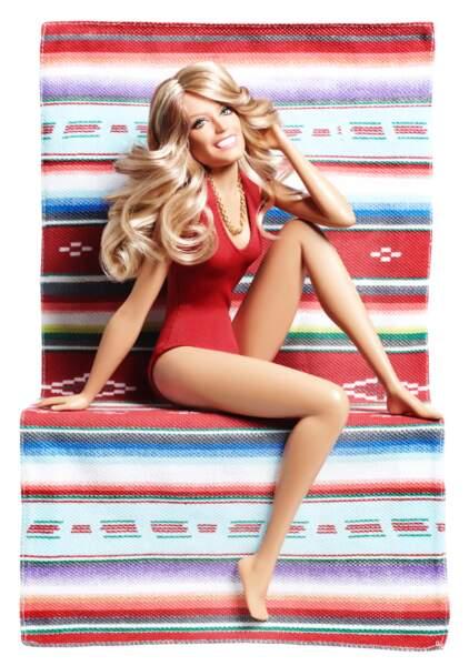 La poupée Barbie version Farrah Fawcett