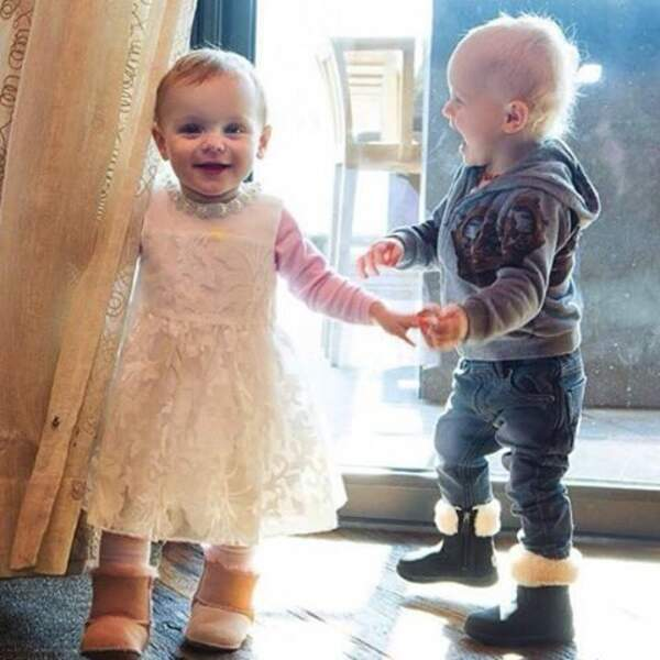 La Princesse Gabriella et le Prince Jacques de Monaco, à 19 mois, ils connaissent pratiquement l'alphabet.