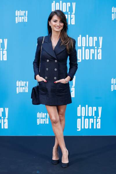 "Penelope Cruz ravissante en robe courte pour le film Pain and Glory"" à Madrid le 12 mars 2019"