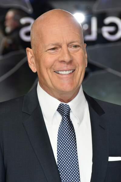 """Bruce Willis à la première de """"Glass"""" à Londres, le 9 janvier 2019."""