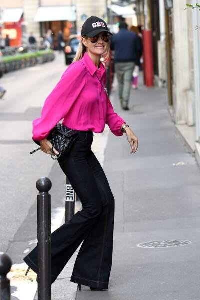 Laeticia Hallyday à Paris le 15 octobre 2018