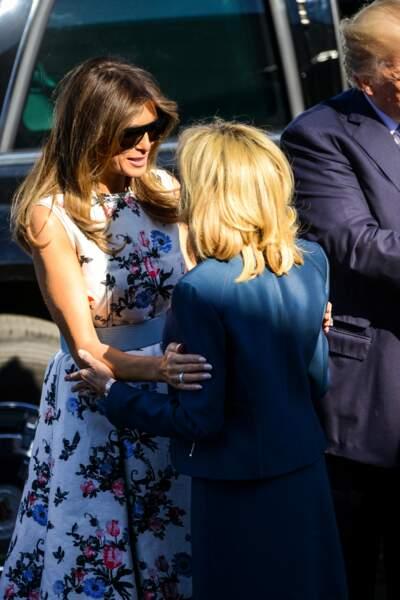 Brigitte Macron et Melania Trump ont tissé des liens particuliers lors de la cérémonie du 14 juillet à Paris