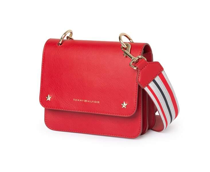 Bleu blanc rouge, mini sac bandoulière, 185 € (Tommy Hilfiger @ YOOX).