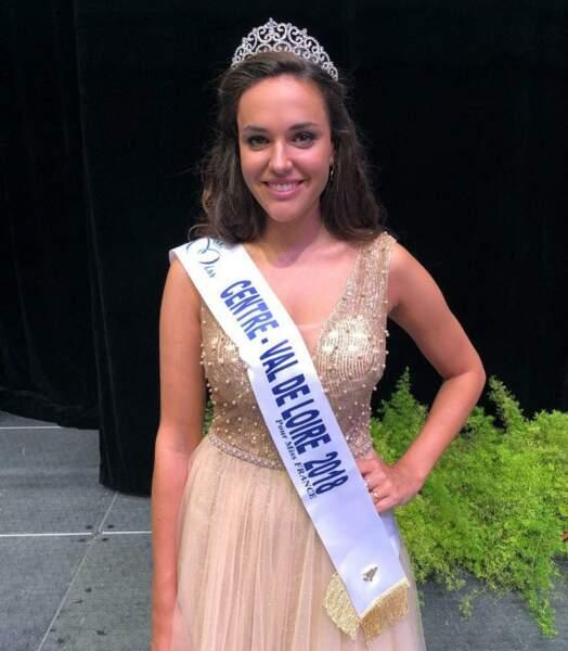 Laurie Derouard, 23 ans, a été sacrée Miss Centre Val-de-Loire et tentera de devenir Miss France 2019