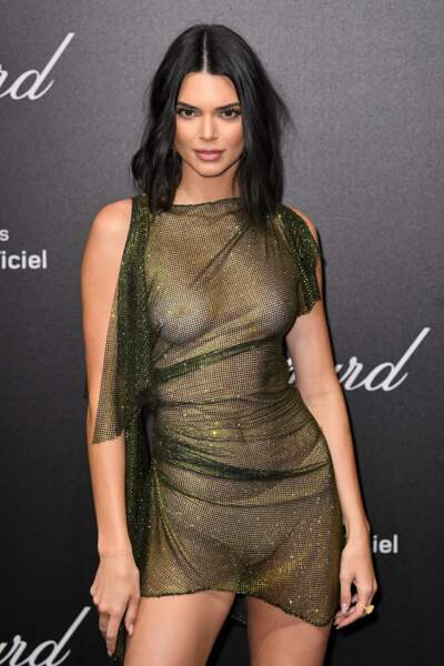 C'est avec une robe totalement transparente qu'elle est apparue face aux photographes