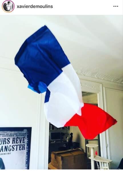 Xavier Desmoulins a sorti le drapeau français en ce jour de finale de Coupe du Monde.