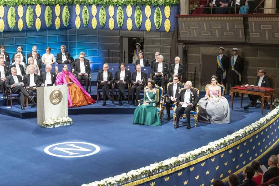 La famille royale de Suède était présente lors de la remise des prix Nobel lundi 10 décembre
