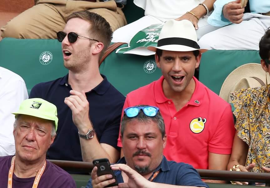 Le chanteur Mika et son compagnon Andy Dermanis en amoureux à Roland Garros
