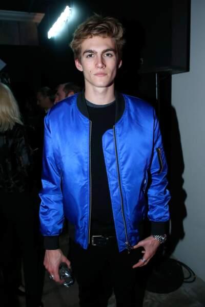 Presley Gerber, le fils de Cindy Crawford lors de la soirée Yves Saint Laurent