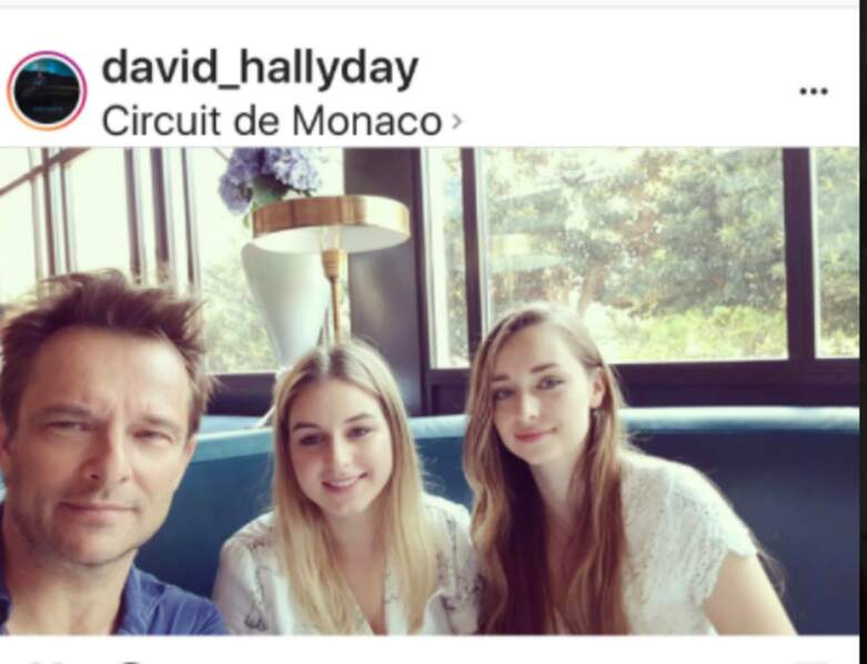 David Hallyday avec ses filles, Emma Ilona