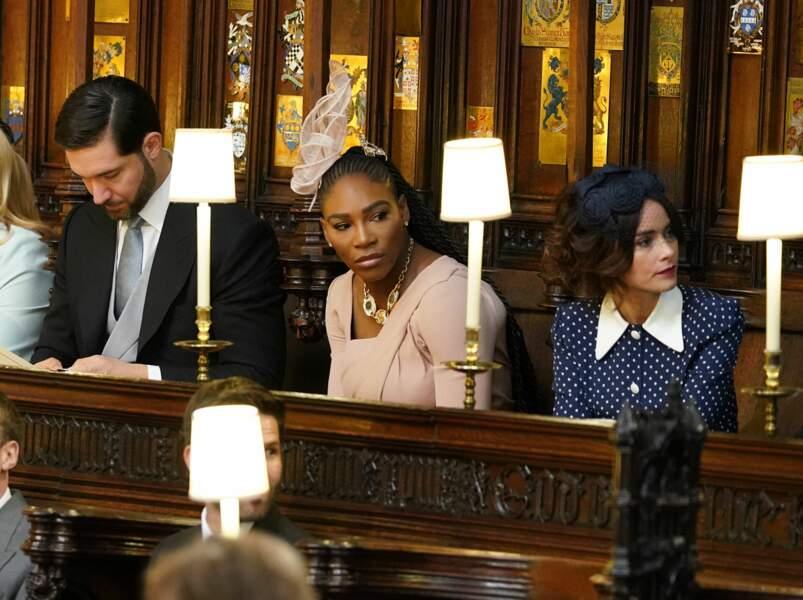 Alexis Ohanian, Serena Williams et Abigail Spencer au mariage de Meghan Markle et du Prince Harry le 19 mai 2018