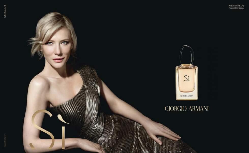 "Cate Blanchett, incarne ""Si"" d'Armani en 2015"