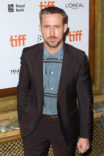 "Ryan Gosling chiquissime au photocall de la première de ""First Man"" au Toronto International Film Festival 2018."