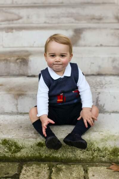 A quinze jours de Nöel, en 2014, baby George tête d'ange et bouille de fripon.