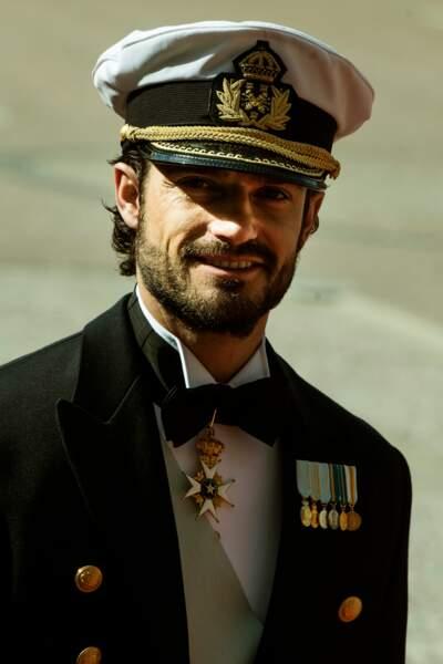 Le prince Carl Philip très séduisant pour son mariage au palais royal à Stockholm, le 13 juin 2015.