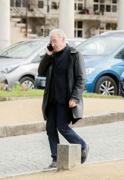 Bernard Le Coq au Père Lachaise pour les obsèques de Maria Pacôme, le 10 décembre 2018