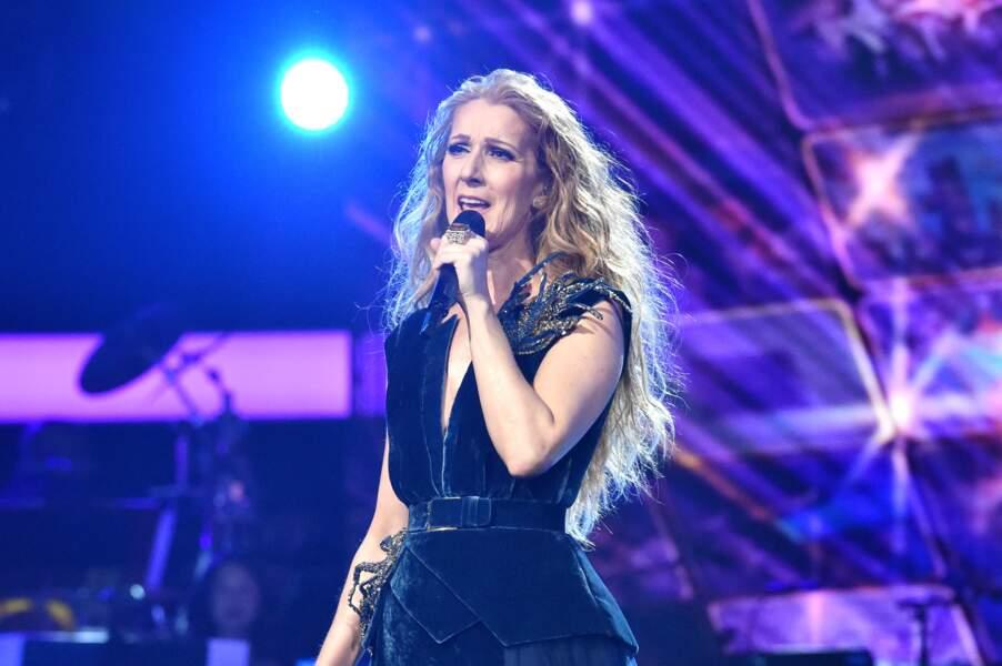 Celine Dion lors du concert hommage aux Bee Gees le 14 fevrier 2017 à Los Angeles
