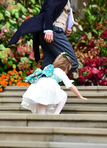 La princesse Charlotte a fait une chute en montant les escaliers jusqu'à la chapelle