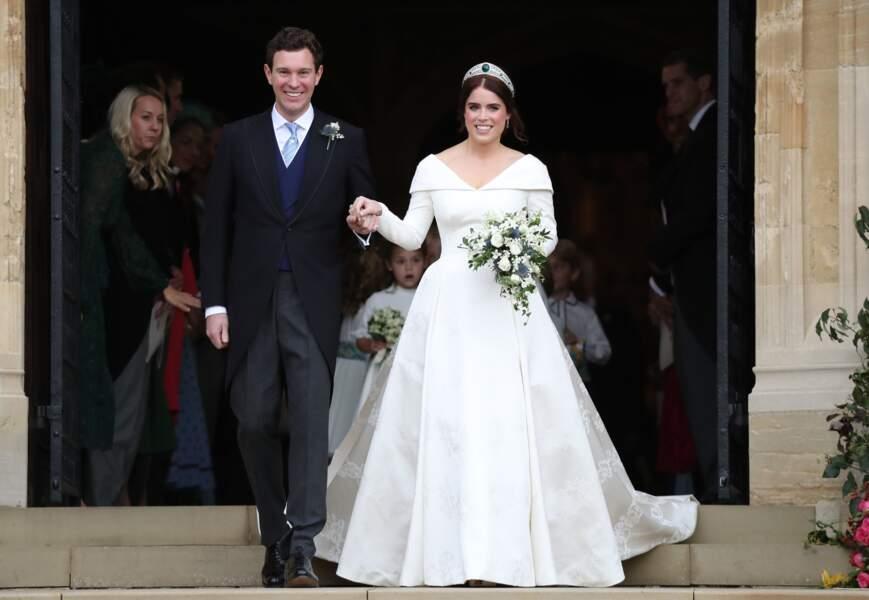 La princesse Eugénie et Jack Brooksbank lors de leur mariage, le 12 octobre 2018