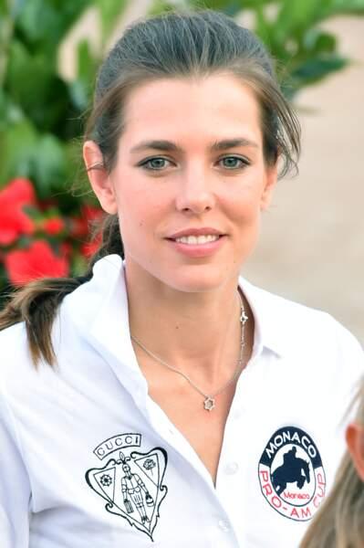 Charlotte Casiraghi au 20e Jumping International de Monte-Carlo au Port Hercule de Monaco le 26 juin 2015.