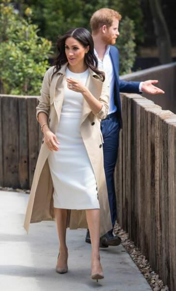 Le prince Harry et Meghan Markle, enceinte, au Zoo de Taronga, à Sydney, le 16 octobre 2018