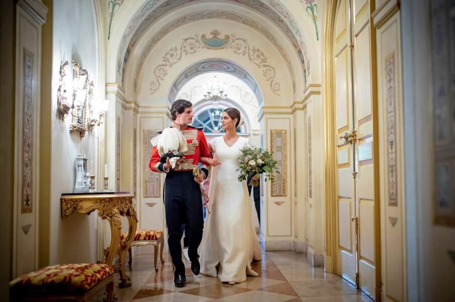 Fernando Fitz-James Stuart, duc de Huéscar, a épousé Sofia Palazuelo au palais  Liria à Madrid le 6 octobre 2018