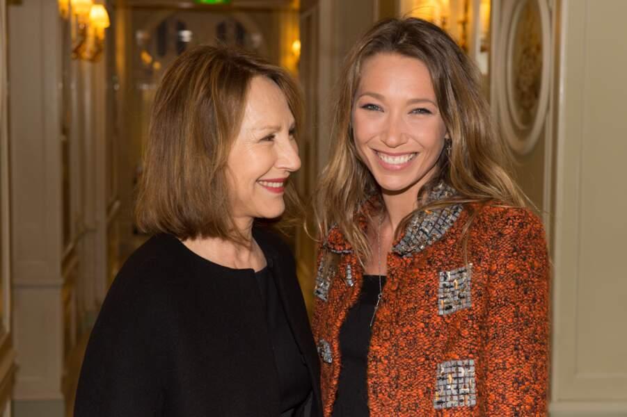 Nathalie Baye et Laura Smet au diner des révélations des César en 2015 à Paris