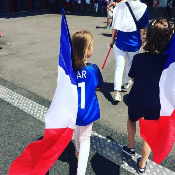 Anna Rose Lloris pendant l'Euro 2016