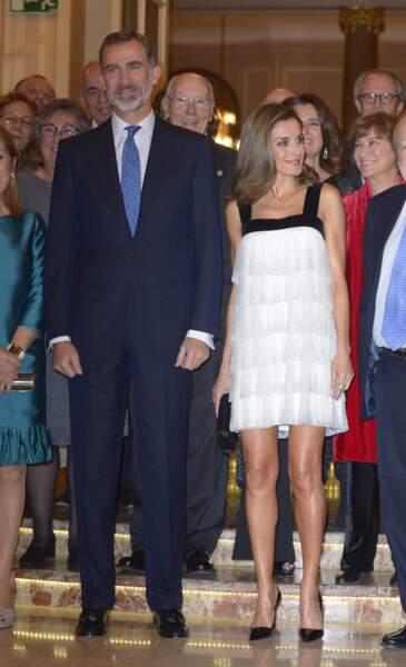 Le roi Felipe VI et la reine Letizia d'Espagne au Prix international de la presse à Madrid, le 22 novembre 2017