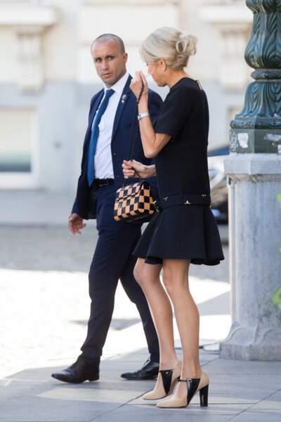 Brigitte Macron en Louis Vuitton